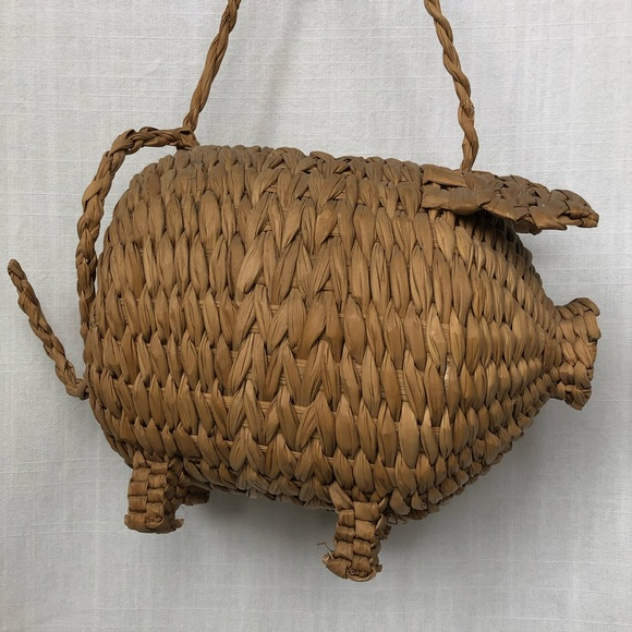 Handbags - Vintage Wicker Pig Bag - Similar to Cult Gaia 10e132342cebb